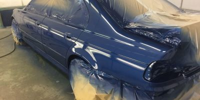 BMW M5 in paint shop
